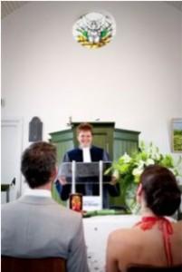 bruiloft kerkje